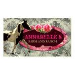 Gris del vintage del rancho el   del caballo de la plantilla de tarjeta de negocio