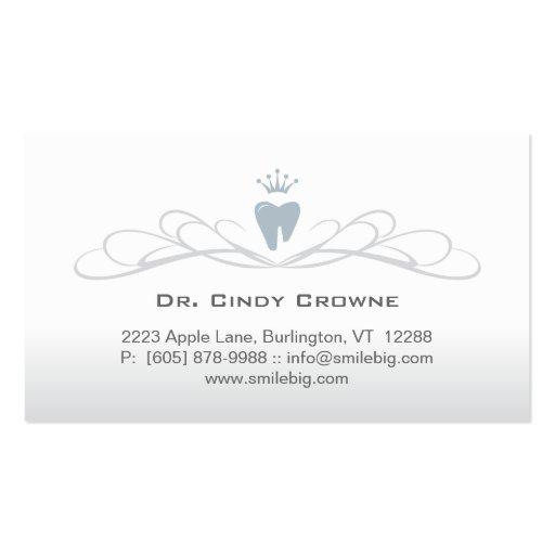 Gris dental del logotipo del diente del remolino d tarjetas de visita