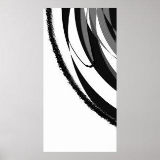 Gris descolorado póster