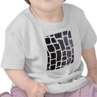 Gris duro rígido rústico de la moda del arte de la camiseta