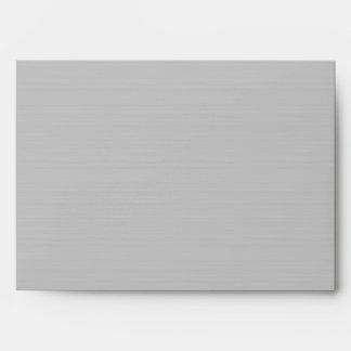 Gris elegante de plata cepillado sobres negros de