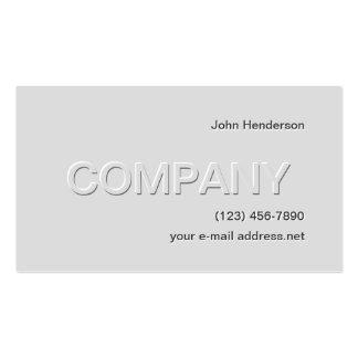 Gris en gris plantillas de tarjeta de negocio