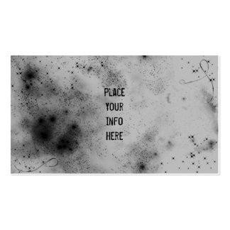 Gris en tarjeta de visita del espacio