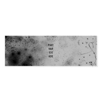 Gris en tarjeta flaca del perfil del espacio tarjeta de visita