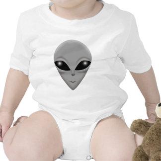 Gris extranjero trajes de bebé