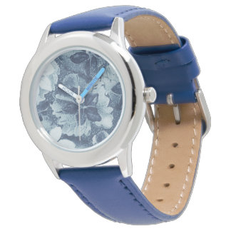 Gris floral del platino del vintage relojes de mano