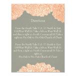 Gris floral y melocotón del crisantemo del vintage anuncio personalizado