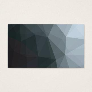 Gris geométrico Colorblock de Ombre Tarjetas De Visita