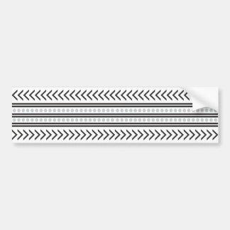 Gris geométrico del modelo de la impresión tribal pegatina para auto