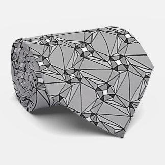 gris geométrico del modelo del grau de la asamblea corbatas personalizadas