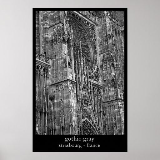 gris gótico posters
