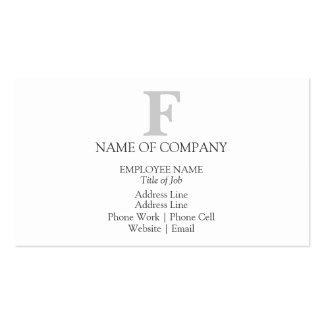 Gris gris del diseñador del monograma del negro tarjetas de visita