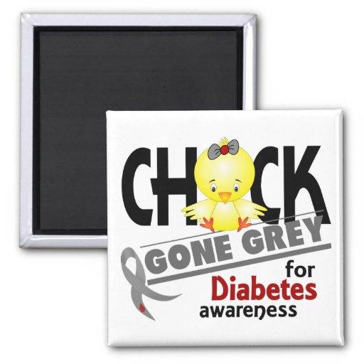Gris ido polluelo 2 de la diabetes imán