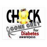 Gris ido polluelo 2 de la diabetes postales