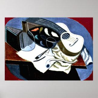 Gris - la tabla del pintor; Pintura de Juan Gris Póster
