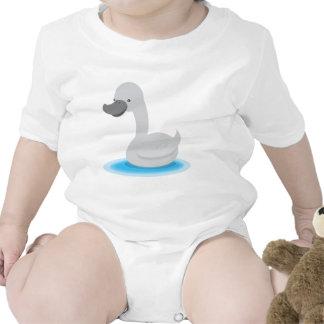 Gris lindo de Gosling del CISNE Trajes De Bebé