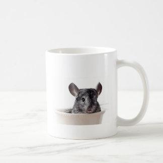 Gris lindo de la chinchilla de la taza de té