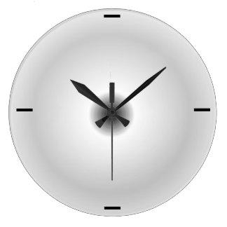 Gris minimalista   > relojes de pared llanos