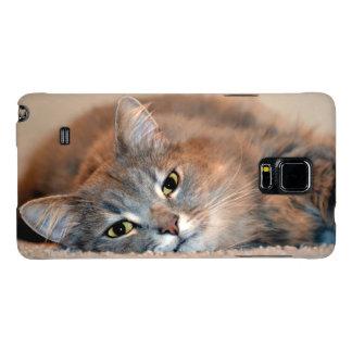 Gris, moreno, gato de pelo largo blanco de Shirley Funda Galaxy Note 4