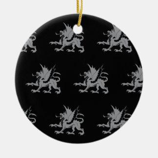 Gris negro de los dragones ornamentos de reyes magos