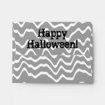 Gris ondulado del diseño de Halloween, blanco y ne