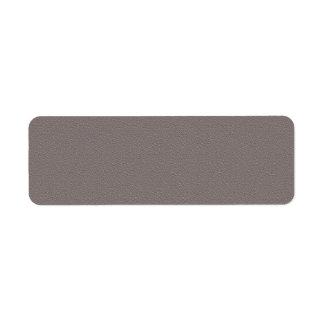 GRIS OSCURO: Impresión en blanco Etiqueta De Remite