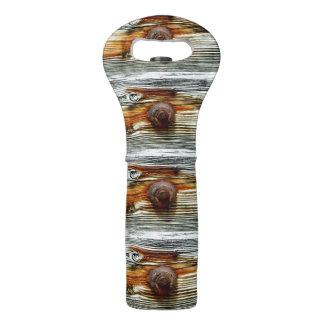 gris oxidado Thunder_Cove del driftwood Bolsas Para Botella De Vino