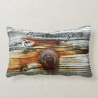 gris oxidado Thunder_Cove del driftwood Cojín