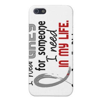 Gris para alguien necesito la diabetes juvenil iPhone 5 carcasa