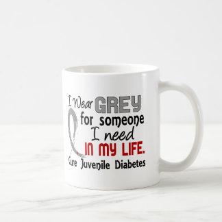 Gris para alguien necesito la diabetes juvenil tazas de café