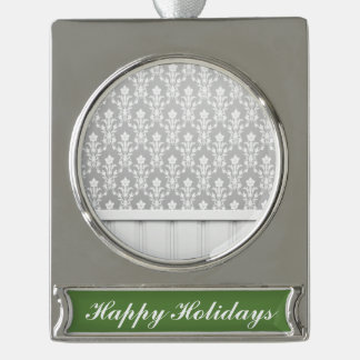 gris, plata, moda de madera de la antigüedad de la adornos personalizables