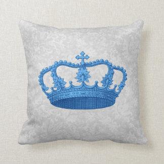 Gris plateados azules Backgrond de la corona del Cojín