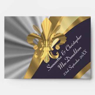 Gris plateados y flor de lis del oro