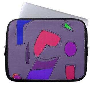 Gris púrpura oscuro fundas computadoras