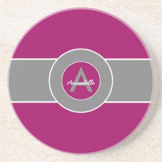 Gris púrpura posavasos manualidades