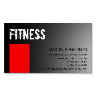 Gris rojo del instructor personal tarjetas de visita magnéticas (paquete de 25)