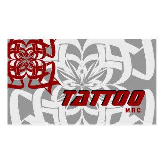 Gris rojo tribal de la tarjeta de visita del tatua