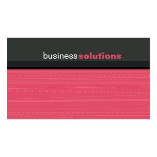 Gris rosado coralino linear moderno intrépido de plantillas de tarjetas personales
