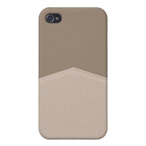Gris simple iPhone 4/4S funda