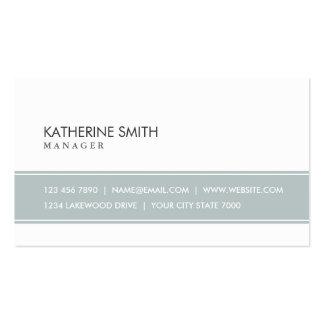 Gris simple llano elegante y blanco profesionales tarjetas de visita
