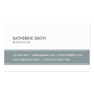 Gris simple llano profesional y blanco elegantes tarjetas de visita