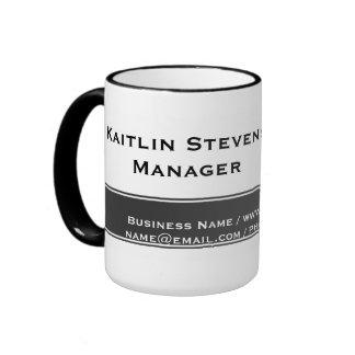 Gris simple llano profesional y blanco elegantes taza de café