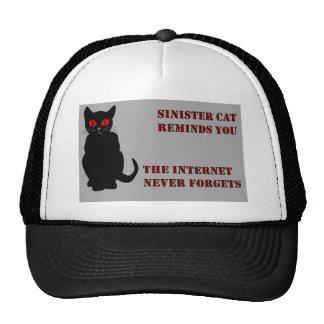 Gris siniestro del gato gorras