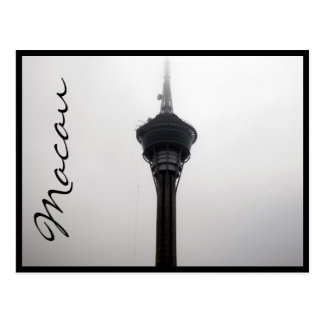 gris superior de la torre de Macao Tarjetas Postales