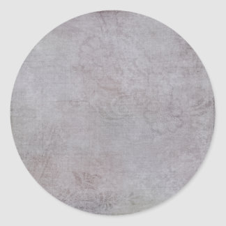 Gris texturizado de la lavanda pegatina redonda