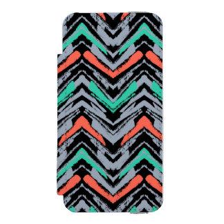 Gris, trullo, y modelo dibujado mano coralina de funda billetera para iPhone 5 watson