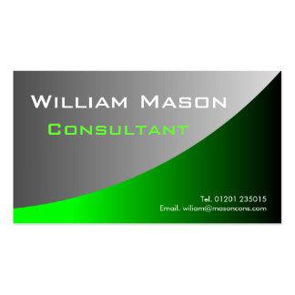 Gris verde curvado, tarjeta de visita profesional