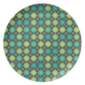 Gris verde del trullo de Argyle Platos