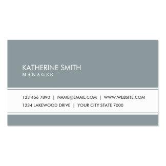Gris verde simple llano elegante profesional tarjetas de visita