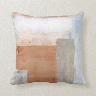 Gris y almohada del arte abstracto de Brown